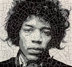 Jimi Hendrix by David Arnott -  sized 22x24 inches. Available from Whitewall Galleries